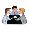 Conference icon in cartoon style isolated on white vector image