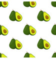 avocado whole and slice seamless pattern vector image