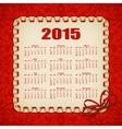 Elegant template of calendar vector image