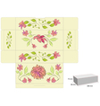 stylized template for box with flowers vector image vector image