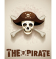 Pirate theme with pirate skull vector image