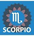 Scorpio Scorpion Zodiac icon with mandala print vector image