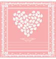 heart floral framework vector image