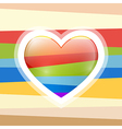 Abstract Retro Heart vector image