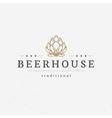 Beer hop logo or badge design element vector image