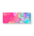 bright colorful banner bright colorful vector image