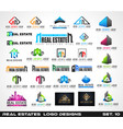 collection of creative real estate logo design vector image