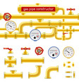 gas pipe set constructor vector image