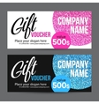 Gift Card Design with Gold Glitter Texture vector image