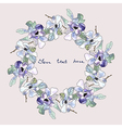 Watercolor floral wreath hand drawn flower frame vector image