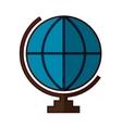 World earth map vector image