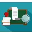 collection school education online symbol vector image