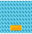 Blue seamless background with geometric waves vector image vector image