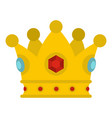 precious crown icon isolated vector image