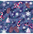 Christmas and New Year background in blue colors vector image