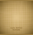 Beige cloth texture background vector image vector image