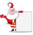 cute christmas santa claus vector image vector image