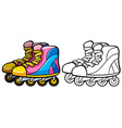 Rollerskates vector image vector image