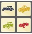 Retro car icon set vector image