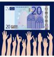hands euro vector image