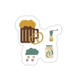 Set of paper stickers on a white background junk vector image