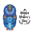 Card for Mothers Day with penguins vector image
