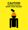 caution sign for construction area vector image