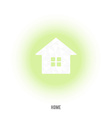 House with window in green circle vector image