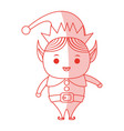 Red shading silhouette cartoon full body christmas vector image