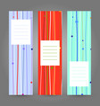 set of vertical colorful banners abstract vector image