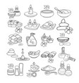 spa icon set black line sp vector image