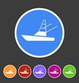 sport fish boat yacht icon flat web sign symbol vector image