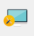 Technical support computer repair service concept vector image