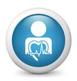 Heart Health Glossy Icon vector image vector image