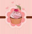 Beautiful cupcake place card vector image