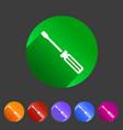 screwdriver repair icon flat web sign symbol logo vector image