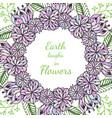 zentangle frame doodle flowers pattern in vector image