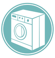 washing machine symbol vector image vector image