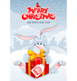 Rabbit Christmas vector image