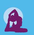 meditating girl silhouette vector image