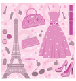 paris fashion set vector image vector image