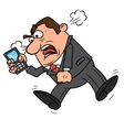 Angry businessman screaming vector image
