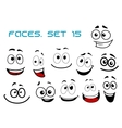 Cartoon laughing faces with googly eyes vector image