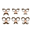 Closeup of a fake nose and glasses with mustache vector image