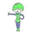 comic cartoon vampire girl giving thumbs up symbol vector image