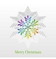 Creative Christmas Snowflake Greeting Card vector image