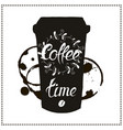 cup of coffee takeaway for restaurant cafe bar vector image