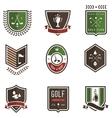 Golf Emblems vector image