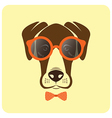 image of dog wearing glasses vector image