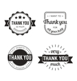 Set of badges with thank you graphics and design vector image